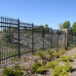 Iron Fencing on hill side in Riverside and San Bernardino Counties