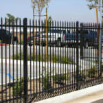 Iron Fencing around parking lot in Riverside and San Bernardino Counties