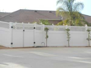 Vinyl Fence around suburban house in Riverside and San Bernardino Counties