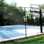 Chain Link Fencing around Basket Ball Court with All Counties Fence and Supply in Riverside and San Bernardino Counties