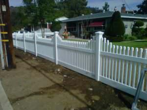 Vinyl Fence in front of house in Riverside and San Bernardino Counties
