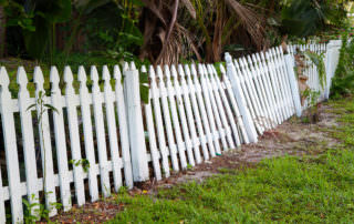 Old fence that needs to be removed